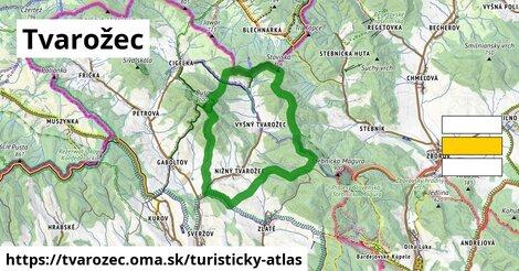 ikona Turistická mapa turisticky-atlas  tvarozec