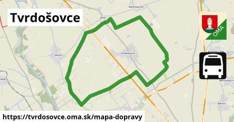 ikona Tvrdošovce: 6,1km trás mapa-dopravy  tvrdosovce