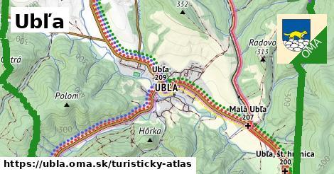 ikona Turistická mapa turisticky-atlas  ubla