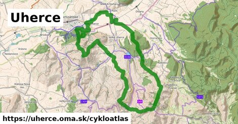 ikona Uherce: 27km trás cykloatlas  uherce
