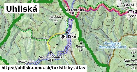 ikona Turistická mapa turisticky-atlas  uhliska