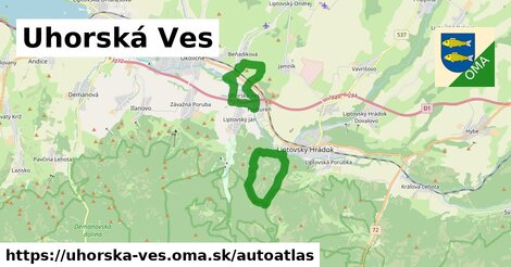 ikona Mapa autoatlas  uhorska-ves