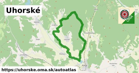 ikona Mapa autoatlas  uhorske