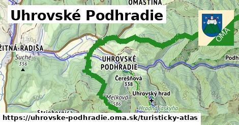 ikona Uhrovské Podhradie: 17km trás turisticky-atlas v uhrovske-podhradie