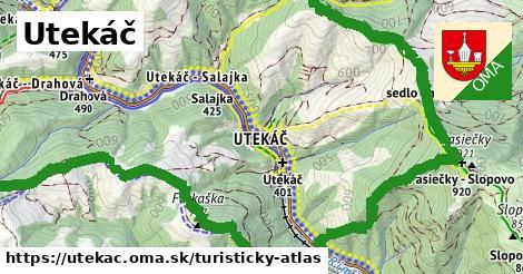 ikona Turistická mapa turisticky-atlas  utekac