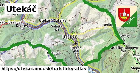 ikona Utekáč: 18km trás turisticky-atlas  utekac