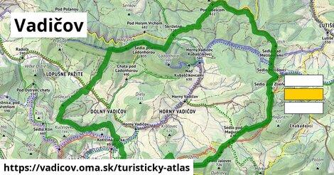ikona Vadičov: 18km trás turisticky-atlas  vadicov