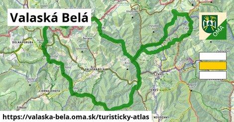 ikona Valaská Belá: 44km trás turisticky-atlas  valaska-bela