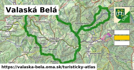 ikona Turistická mapa turisticky-atlas  valaska-bela