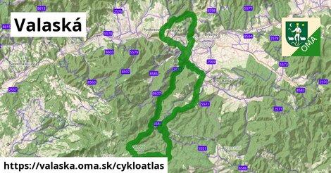 ikona Valaská: 58km trás cykloatlas  valaska