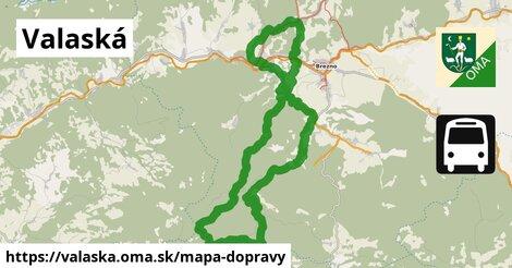 ikona Valaská: 9,0km trás mapa-dopravy  valaska