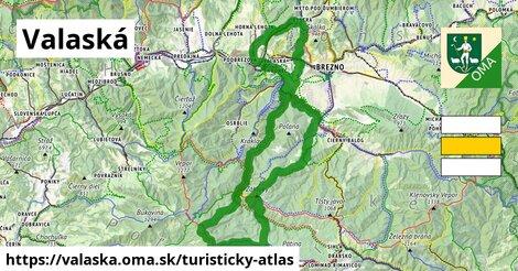 ikona Turistická mapa turisticky-atlas  valaska