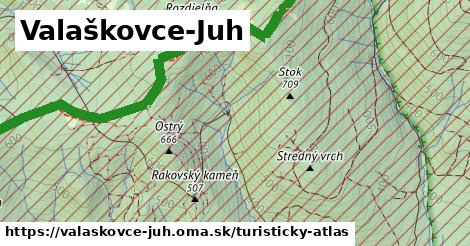 ikona Valaškovce-Juh: 7,5km trás turisticky-atlas  valaskovce-juh