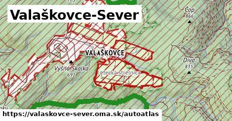 ikona Mapa autoatlas  valaskovce-sever