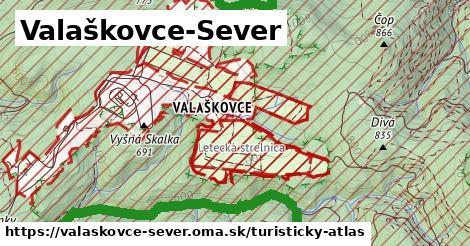 ikona Valaškovce-Sever: 15km trás turisticky-atlas  valaskovce-sever