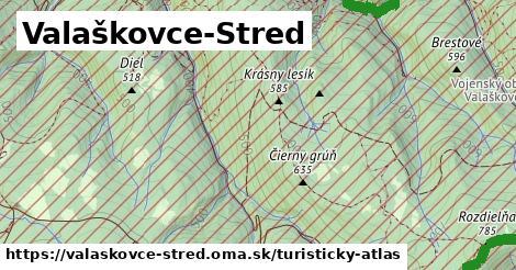 ikona Valaškovce-Stred: 5,7km trás turisticky-atlas  valaskovce-stred