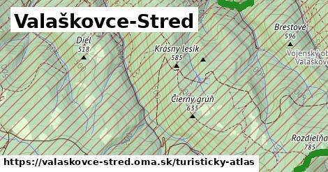 ikona Turistická mapa turisticky-atlas  valaskovce-stred