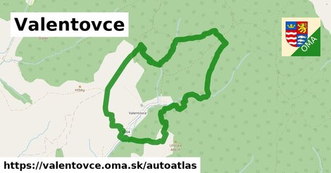 ikona Mapa autoatlas  valentovce