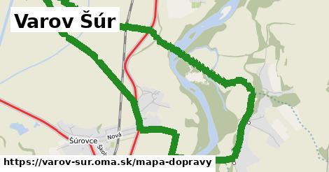 ikona Varov Šúr: 1,13km trás mapa-dopravy  varov-sur