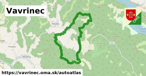 ikona Mapa autoatlas  vavrinec