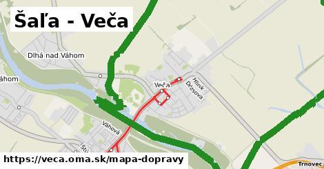 ikona Šaľa - Veča: 16km trás mapa-dopravy v veca
