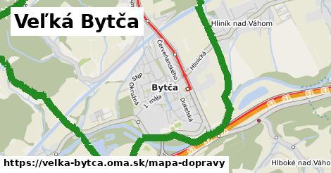 ikona Veľká Bytča: 15km trás mapa-dopravy v velka-bytca