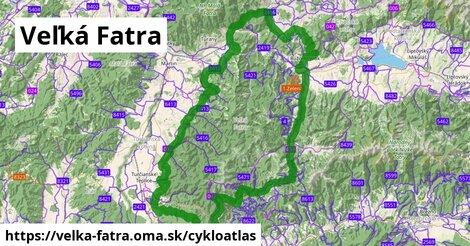 ikona Veľká Fatra: 350km trás cykloatlas  velka-fatra