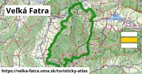 ikona Veľká Fatra: 736km trás turisticky-atlas  velka-fatra