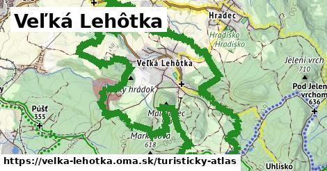 ikona Veľká Lehôtka: 2,6km trás turisticky-atlas  velka-lehotka