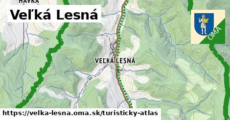 ikona Turistická mapa turisticky-atlas  velka-lesna