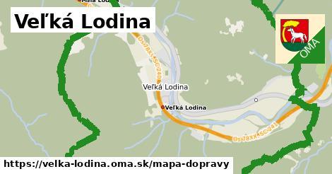 ikona Veľká Lodina: 4,8km trás mapa-dopravy  velka-lodina