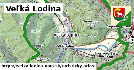 ikona Turistická mapa turisticky-atlas  velka-lodina