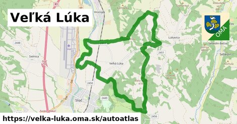 ikona Mapa autoatlas  velka-luka