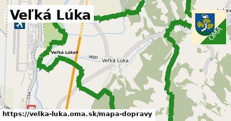 ikona Veľká Lúka: 1,20km trás mapa-dopravy  velka-luka