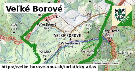 ikona Veľké Borové: 17km trás turisticky-atlas  velke-borove