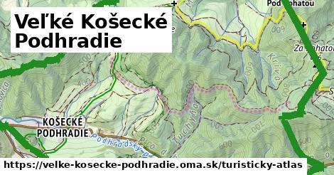 ikona Veľké Košecké Podhradie: 14,1km trás turisticky-atlas  velke-kosecke-podhradie
