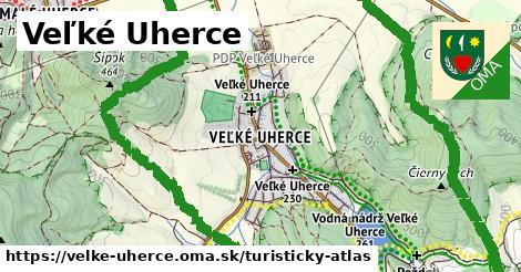 ikona Veľké Uherce: 14,8km trás turisticky-atlas  velke-uherce
