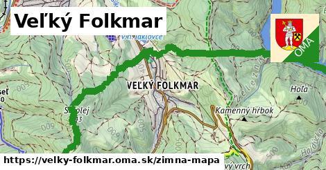 ikona Veľký Folkmar: 14,0km trás zimna-mapa  velky-folkmar
