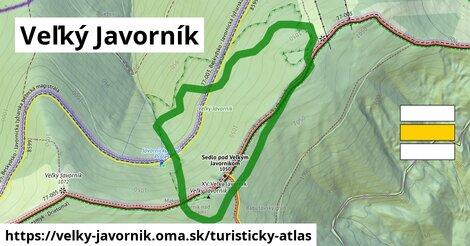 ikona Veľký Javorník: 2,8km trás turisticky-atlas  velky-javornik