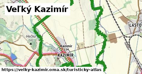 ikona Veľký Kazimír: 5,0km trás turisticky-atlas  velky-kazimir