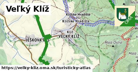 ikona Veľký Klíž: 12,1km trás turisticky-atlas  velky-kliz