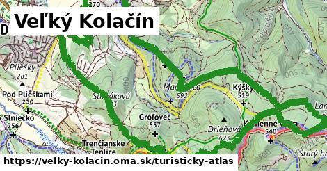 ikona Veľký Kolačín: 14,2km trás turisticky-atlas  velky-kolacin