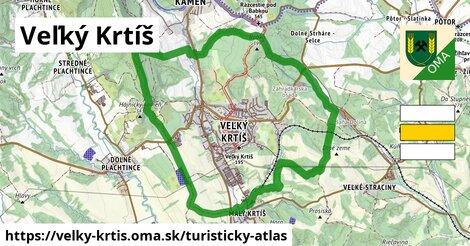 ikona Veľký Krtíš: 3,8km trás turisticky-atlas  velky-krtis