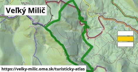 ikona Turistická mapa turisticky-atlas  velky-milic
