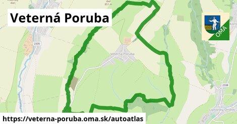 ikona Mapa autoatlas  veterna-poruba