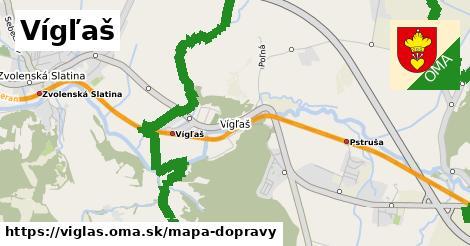 ikona Vígľaš: 4,6km trás mapa-dopravy  viglas