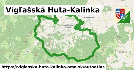ikona Mapa autoatlas  viglasska-huta-kalinka
