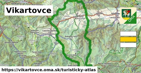 ikona Turistická mapa turisticky-atlas  vikartovce