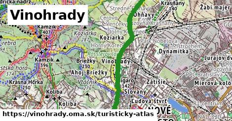 ikona Vinohrady: 74km trás turisticky-atlas  vinohrady