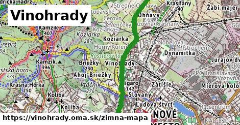 ikona Vinohrady: 13,9km trás zimna-mapa  vinohrady